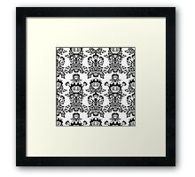Abstract flowers. Black and white bouquet. Framed Print
