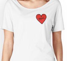 Oppa Heart Patch kpop Women's Relaxed Fit T-Shirt