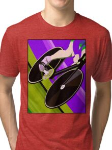 BICYCLE ABSTRACT; Modern Art Print Tri-blend T-Shirt