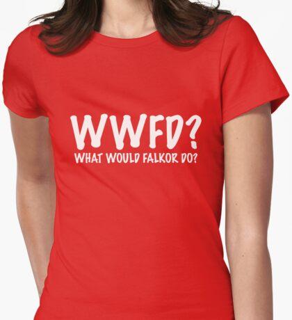 Charlie Bradbury What Would Falkor Do? Shirt Womens Fitted T-Shirt