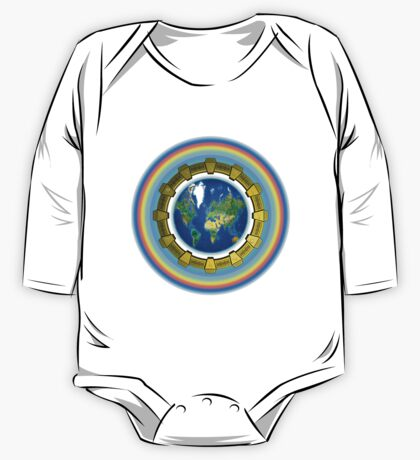 Earth Ascension Stargate T-Shirt One Piece - Long Sleeve