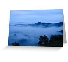 Blue morning in the valley Greeting Card