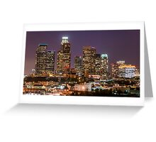LA Skyline Greeting Card