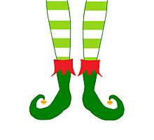 Christmas Elf Feet Photographic Print
