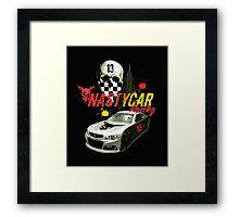 Nastycar Racing Framed Print
