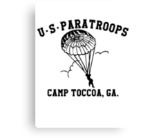 Camp Toccoa PT Shirt Canvas Print