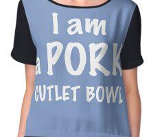 I am a Pork Cutlet Bowl (Yuri on Ice) Chiffon Top