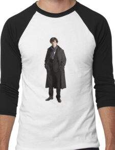 Sherlock print Men's Baseball ¾ T-Shirt