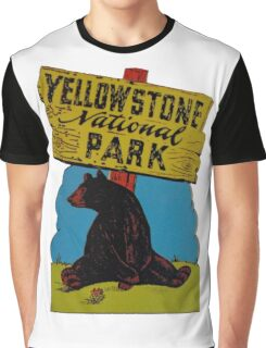 Yellowstone National Park Wyoming Vintage Travel Decal Graphic T-Shirt