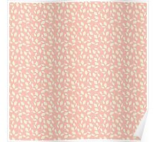 Pink and Cream Blossoms - Calico Flowers Poster