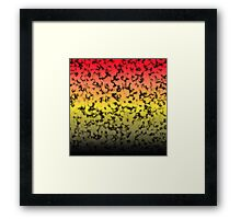 Color Gradient Black Marbleized - Black | Yellow | Red Framed Print