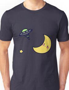 Moon and UFO Unisex T-Shirt