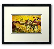 RAD CYCLES; Vintage Bicycle Advertising Print Framed Print