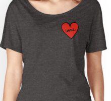 Unnie Heart Patch kpop Women's Relaxed Fit T-Shirt