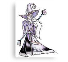 Dark Moon Witch - Halloween Black Magic Sorceress Illustration Canvas Print