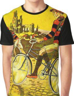 RAD CYCLES; Vintage Bicycle Advertising Print Graphic T-Shirt
