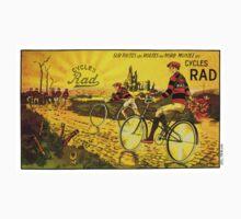 RAD CYCLES; Vintage Bicycle Advertising Print Kids Tee