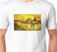 RAD CYCLES; Vintage Bicycle Advertising Print Unisex T-Shirt