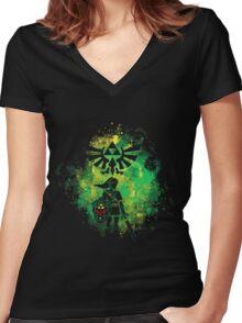 Legend of Zelda - Hyrule Warrior Women's Fitted V-Neck T-Shirt