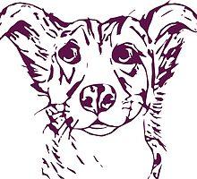Cute stylized collie type dog by rayemond