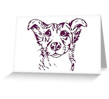 Cute stylized collie type dog Greeting Card