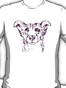 Cute stylized collie type dog T-Shirt