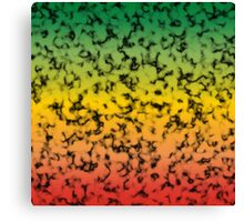 Color Gradient Black Marbleized - Red | Yellow | Green Canvas Print