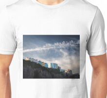 Houses on cliff, Tenby, Wales, Unisex T-Shirt
