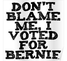 Voted For Bernie Poster