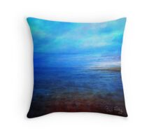 BLURRED-SHORELINE-3959 Throw Pillow