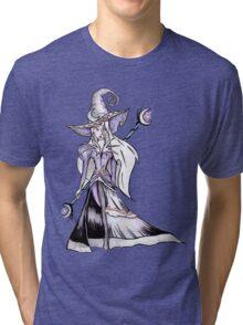 Dark Moon Witch - Halloween Black Magic Sorceress Illustration Tri-blend T-Shirt