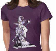 Dark Moon Witch - Halloween Black Magic Sorceress Illustration Womens Fitted T-Shirt