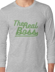 """the real boss """" Design couple"""" Long Sleeve T-Shirt"""