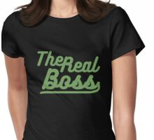 "the real boss "" Design couple"" Womens Fitted T-Shirt"