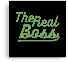 """the real boss """" Design couple"""" Canvas Print"""