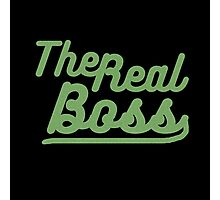 "the real boss "" Design couple"" Photographic Print"