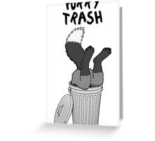 Furry Trash - Silver Fox Greeting Card