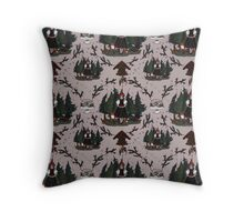 Black Forest Pattern Throw Pillow