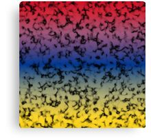 Color Gradient Black Marbleized - Yellow | Blue | Red Canvas Print