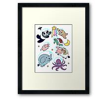 Space Animals! Framed Print