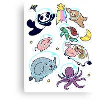 Space Animals! Canvas Print