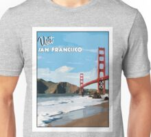 Vintage San Francisco Travel Poster Unisex T-Shirt