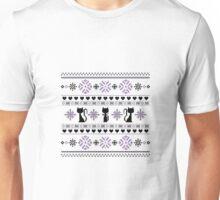 Cat Knit Pattern Purple Unisex T-Shirt