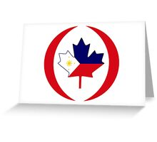 Filipino Canadian Multinational Patriot Flag Series Greeting Card