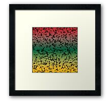 Color Gradient Black Marbleized - Yellow | Green | Red Framed Print