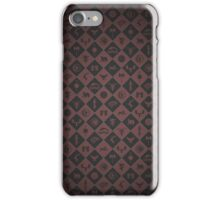 House Sigil Pattern (Burgundy) iPhone Case/Skin