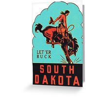 South Dakota SD State Vintage Travel Decal Greeting Card