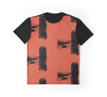 Red and Black Allover Abstract Graphic T-Shirt