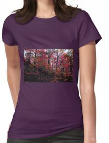 Neon Autumn Trees II Womens Fitted T-Shirt