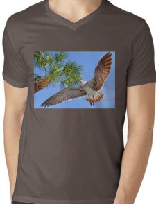 A Seagull Flyby    Mens V-Neck T-Shirt